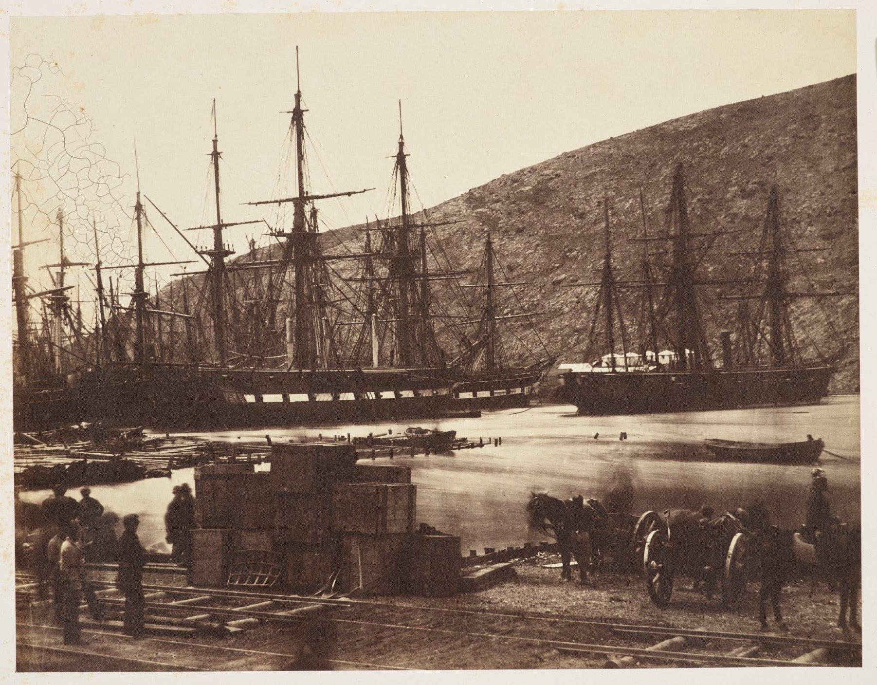 British ships in the bay of Balaklava