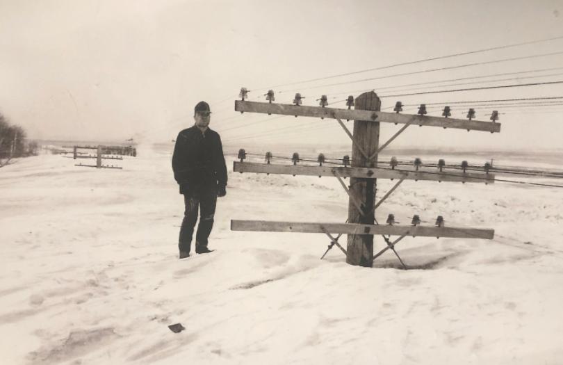 Aftermath of North Dakotan Blizzard, 1966