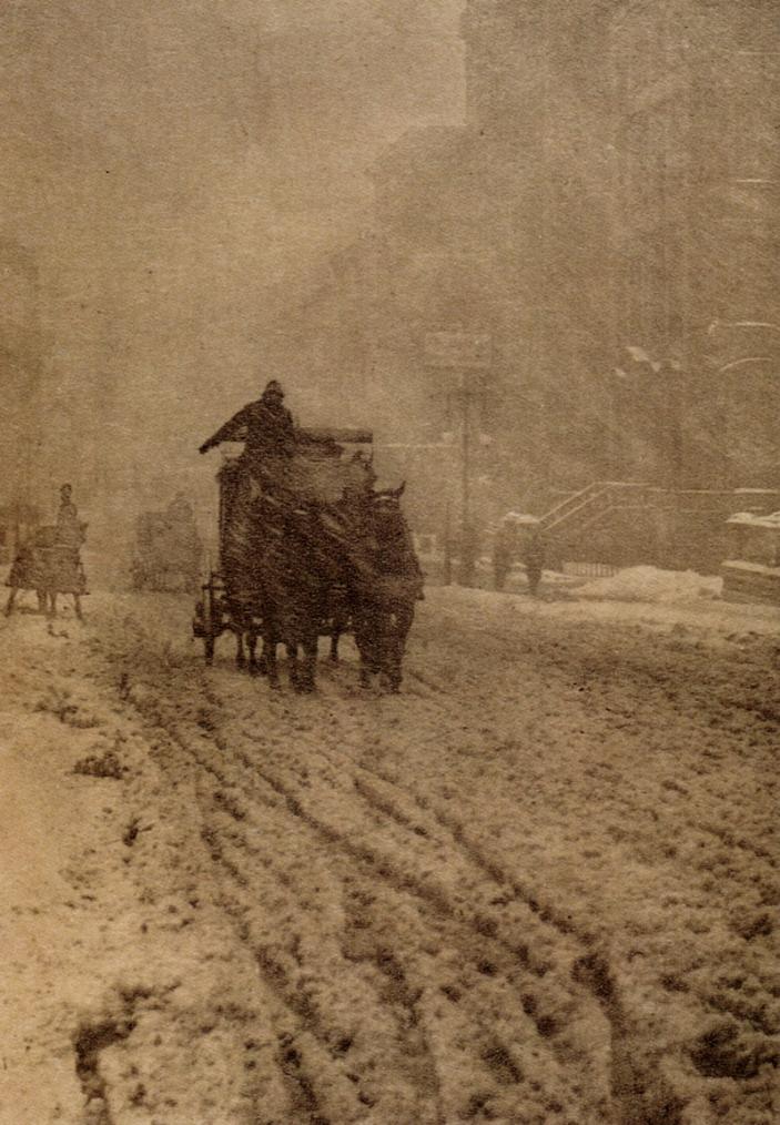 winter in New York, 1905, Alfred Stieglitz photos