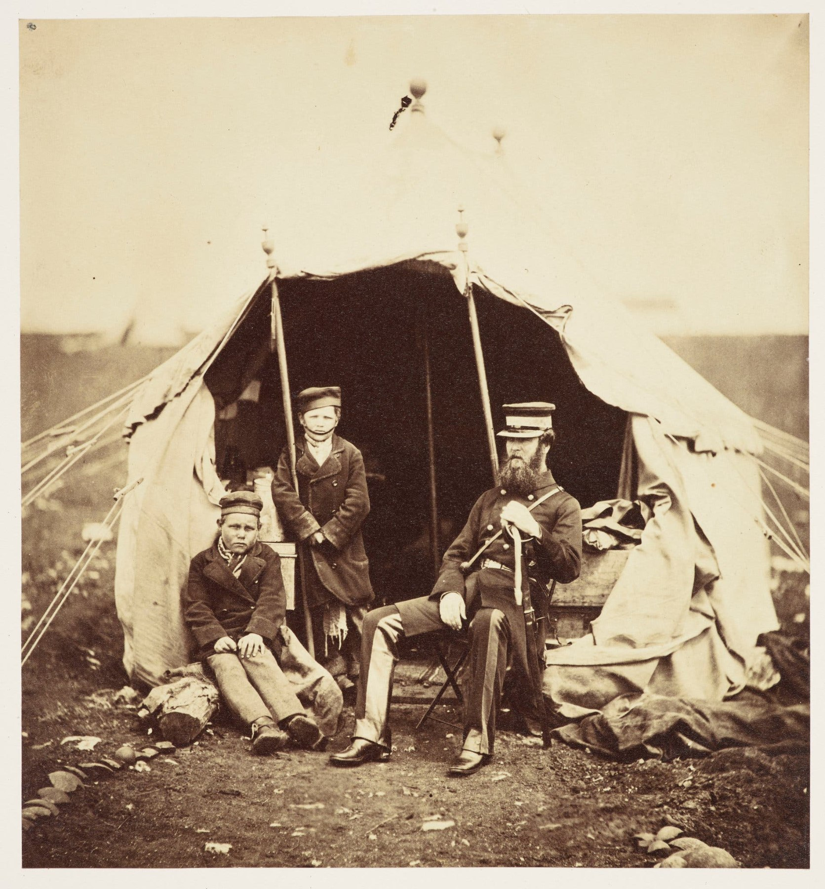 Soldiers at the camp