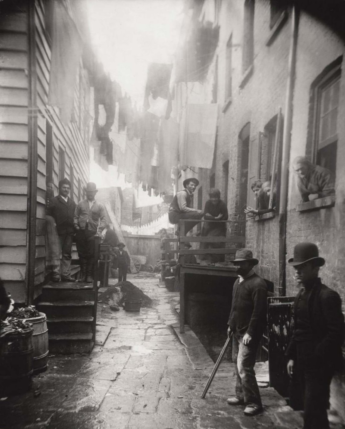 Bandit's Roost, 59½ Mulberry Street, Jacob Riis, 1888