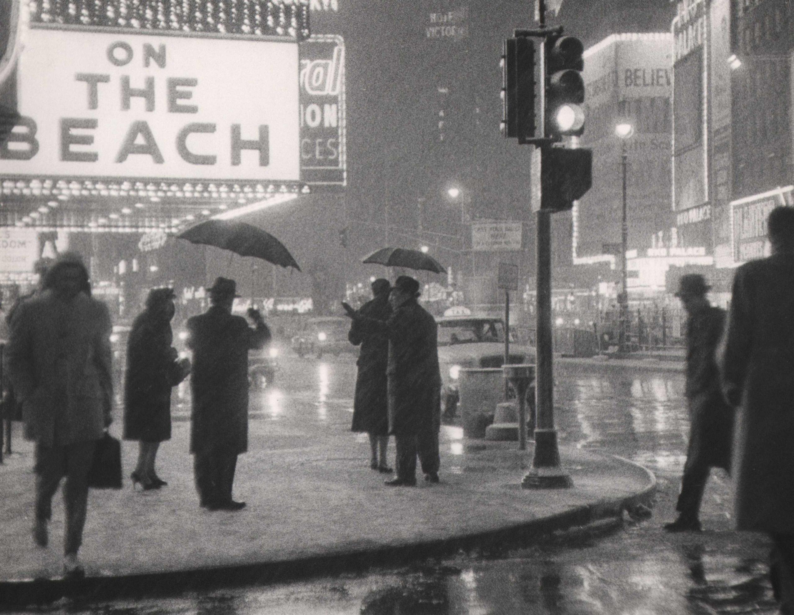 Bedrich Grunzweig, Times Square at Night, New York City, c. 1959