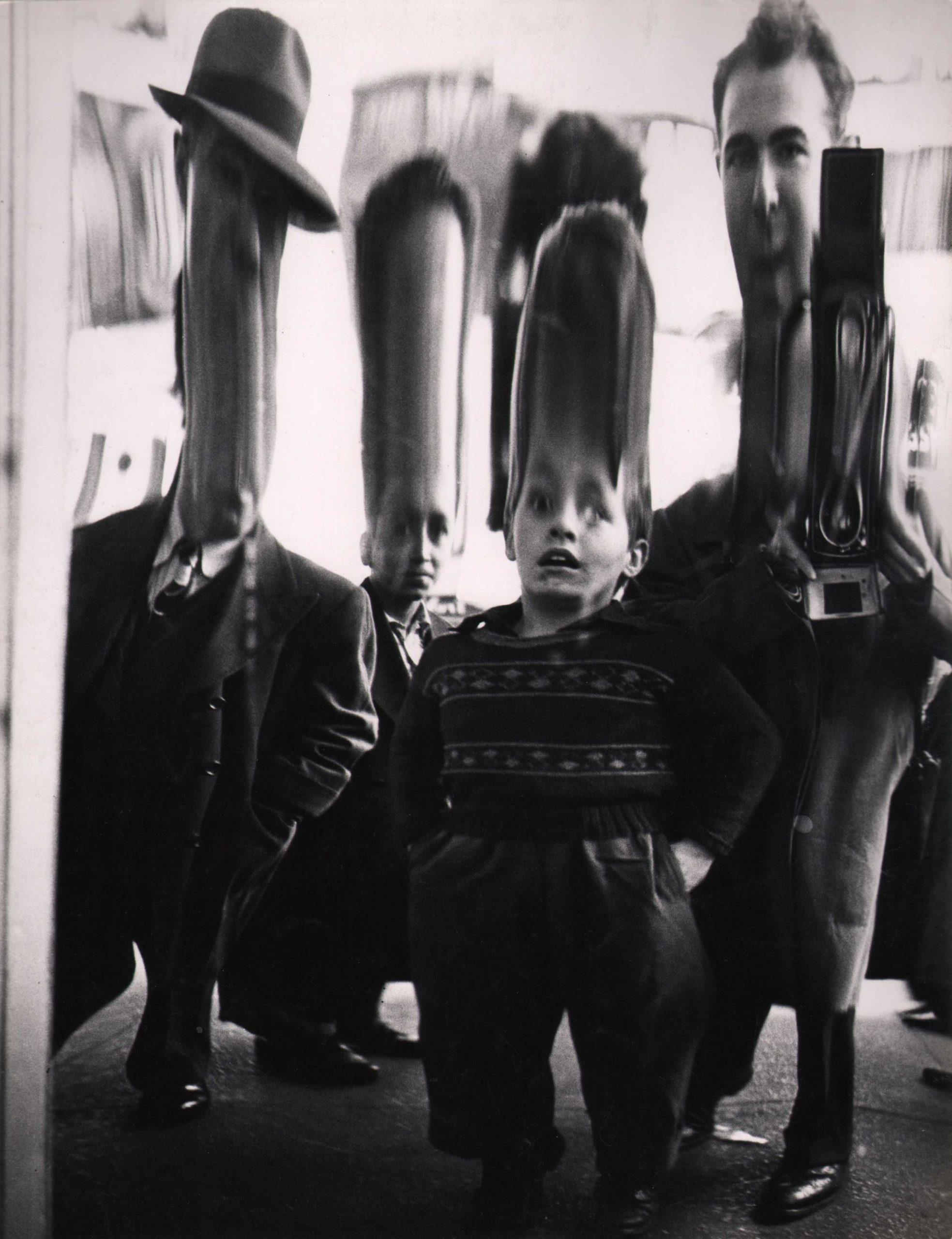 Benn Mitchell, Mirrors of Life, Self-Portrait, 42nd Street, 1950