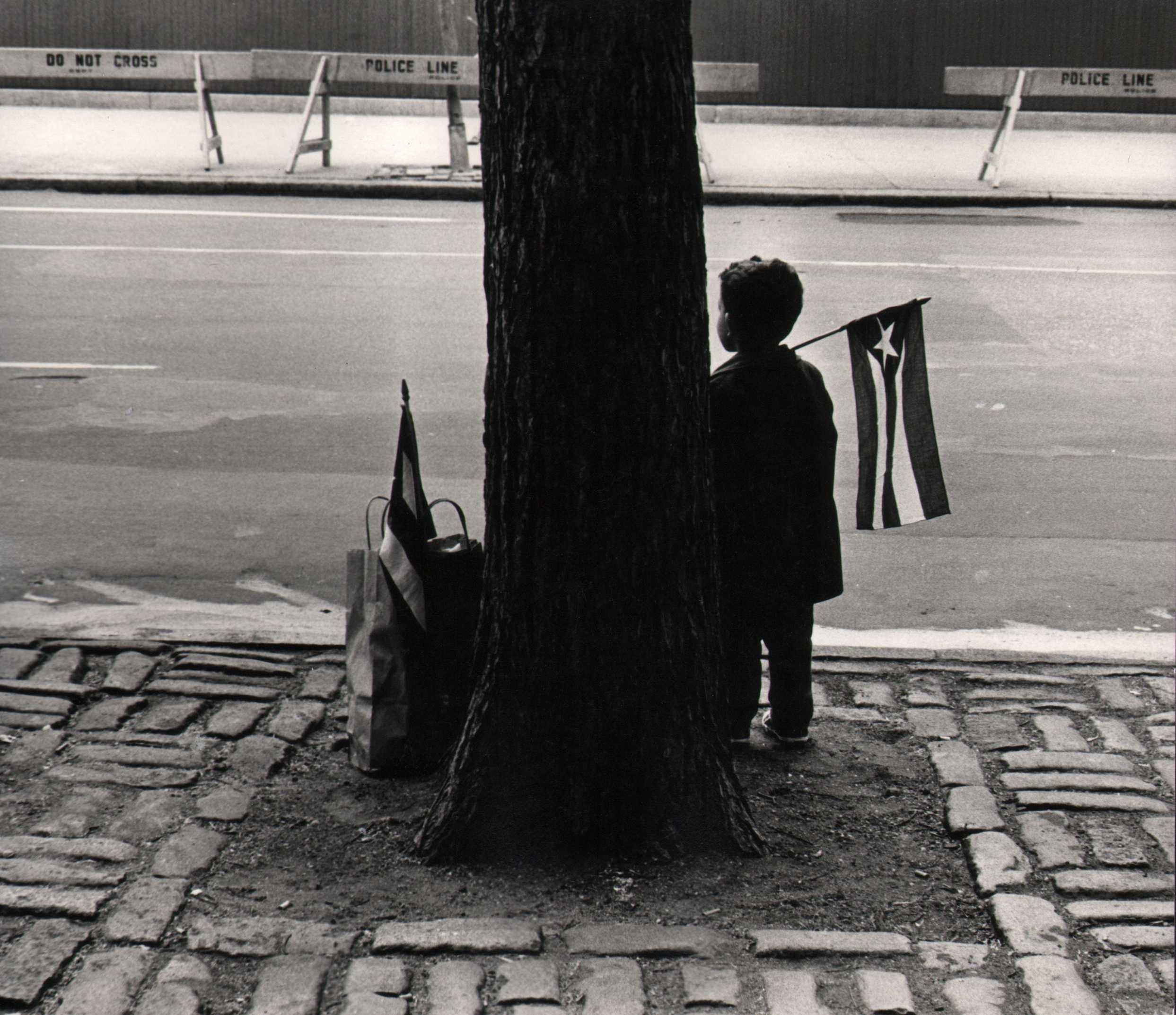Beuford Smith, Boy Holding Flag