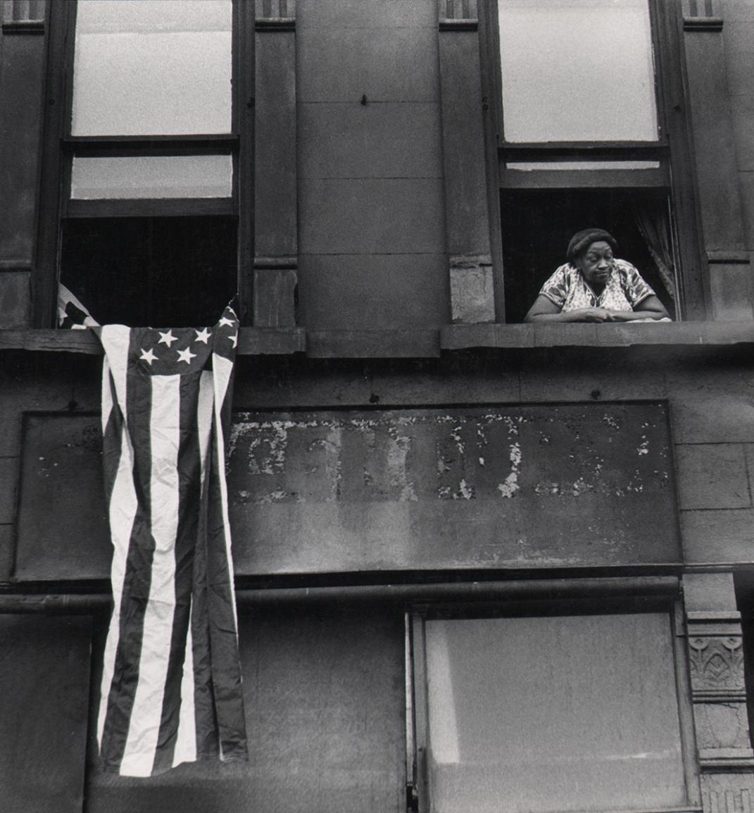 Beuford Smith, Flag Day, Harlem, 1976