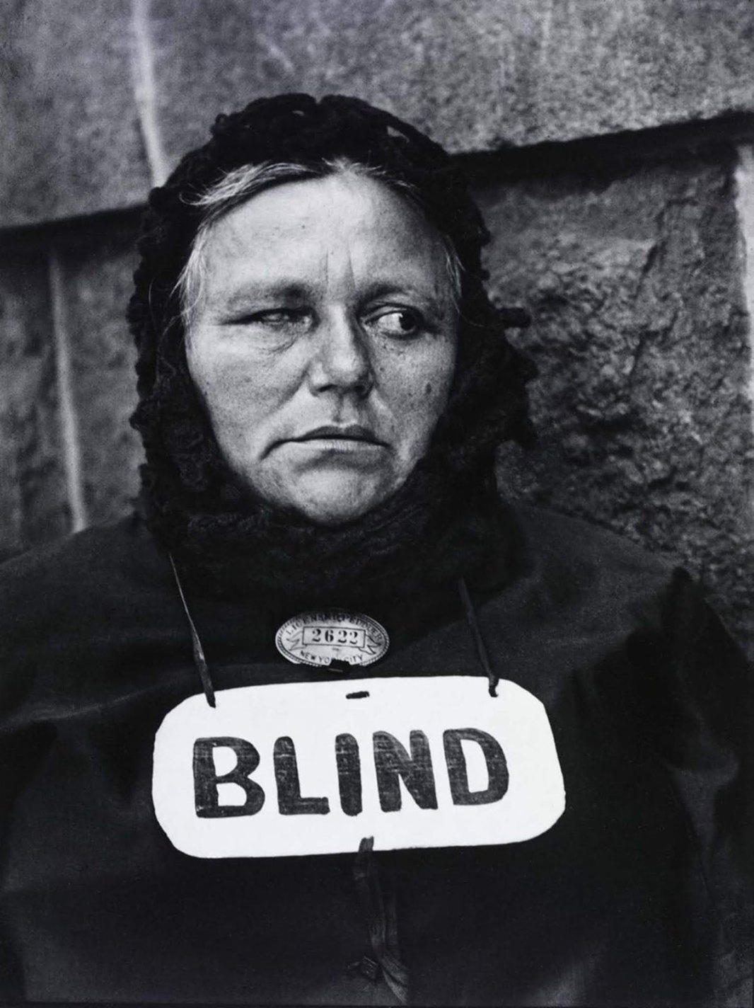 History photo Blind, Paul Strand, 1916