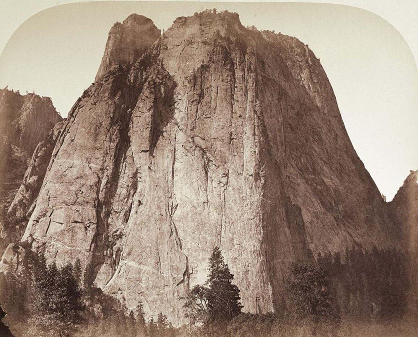 Cathedral Rock, Yosemite, Carleton Watkins, 1861