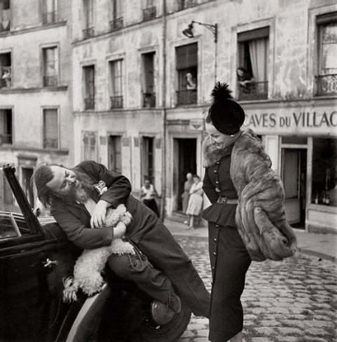 Christina Berard and Renee, suit by Dior, Le Marais, Paris, August 1947.