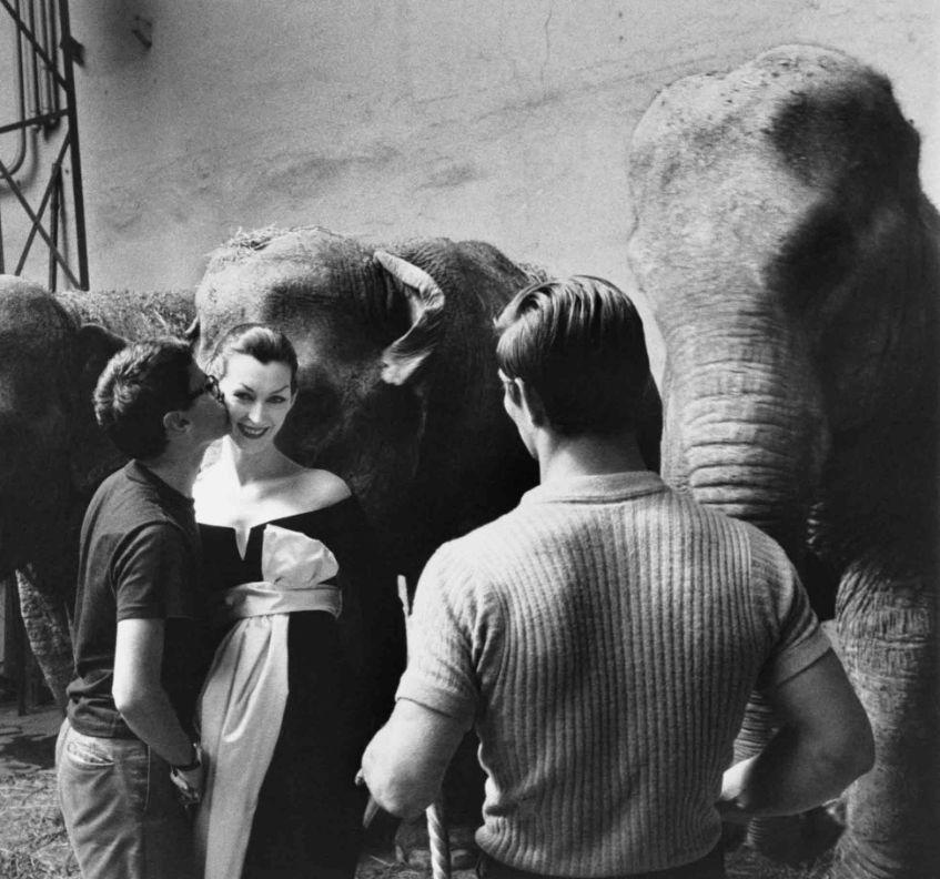 Famous Richard Avedon making his famous photos