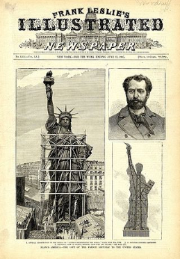 First pictures of Statue of Liberty