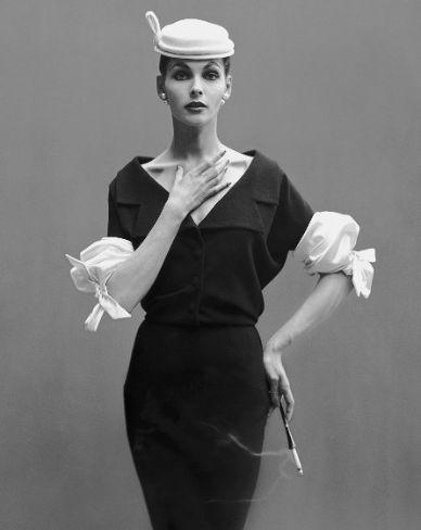 Richard Avedon photos: Georgia Hamilton, Paris studio, August 1953.