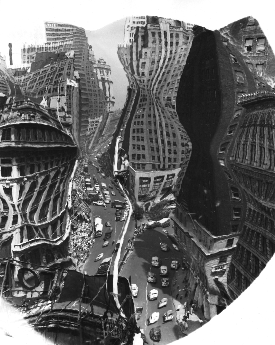 Herald Square Distortion, by Wegee, c. 1950