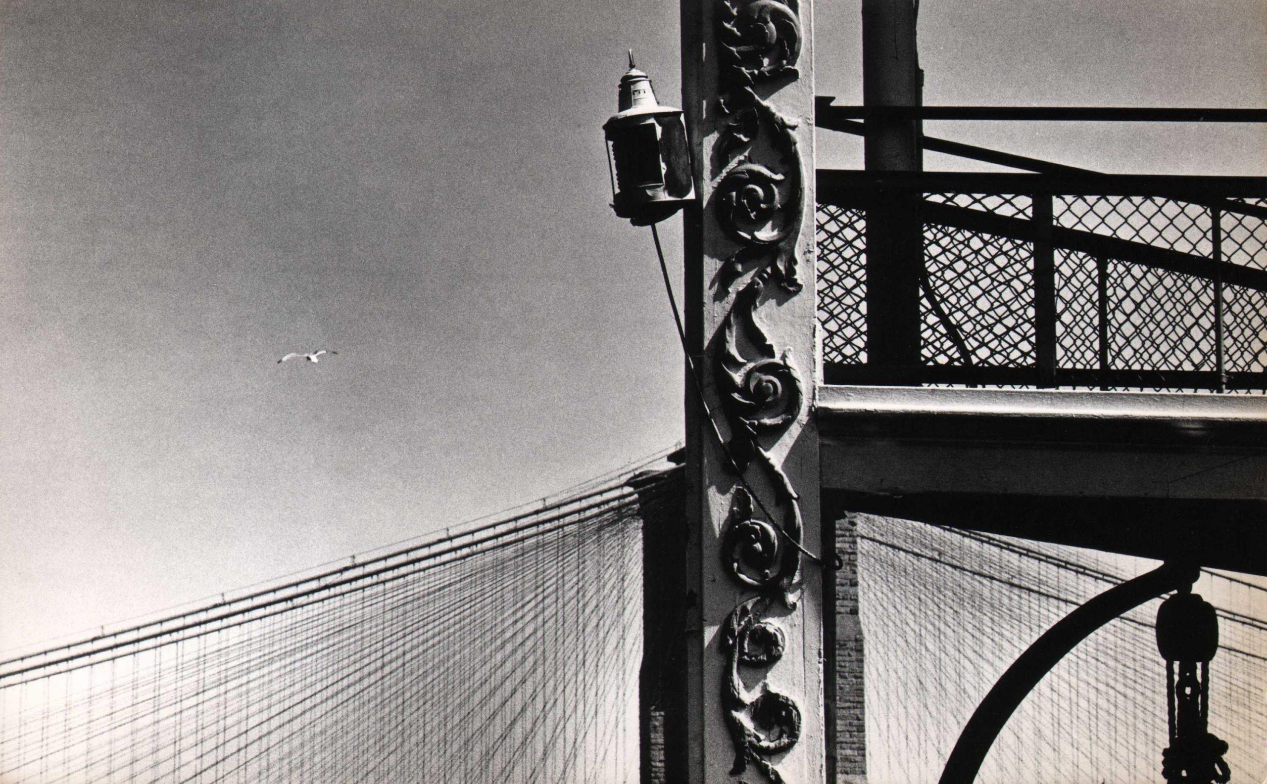 Jan Lukas, New York City, Brooklyn Bridge, 1964