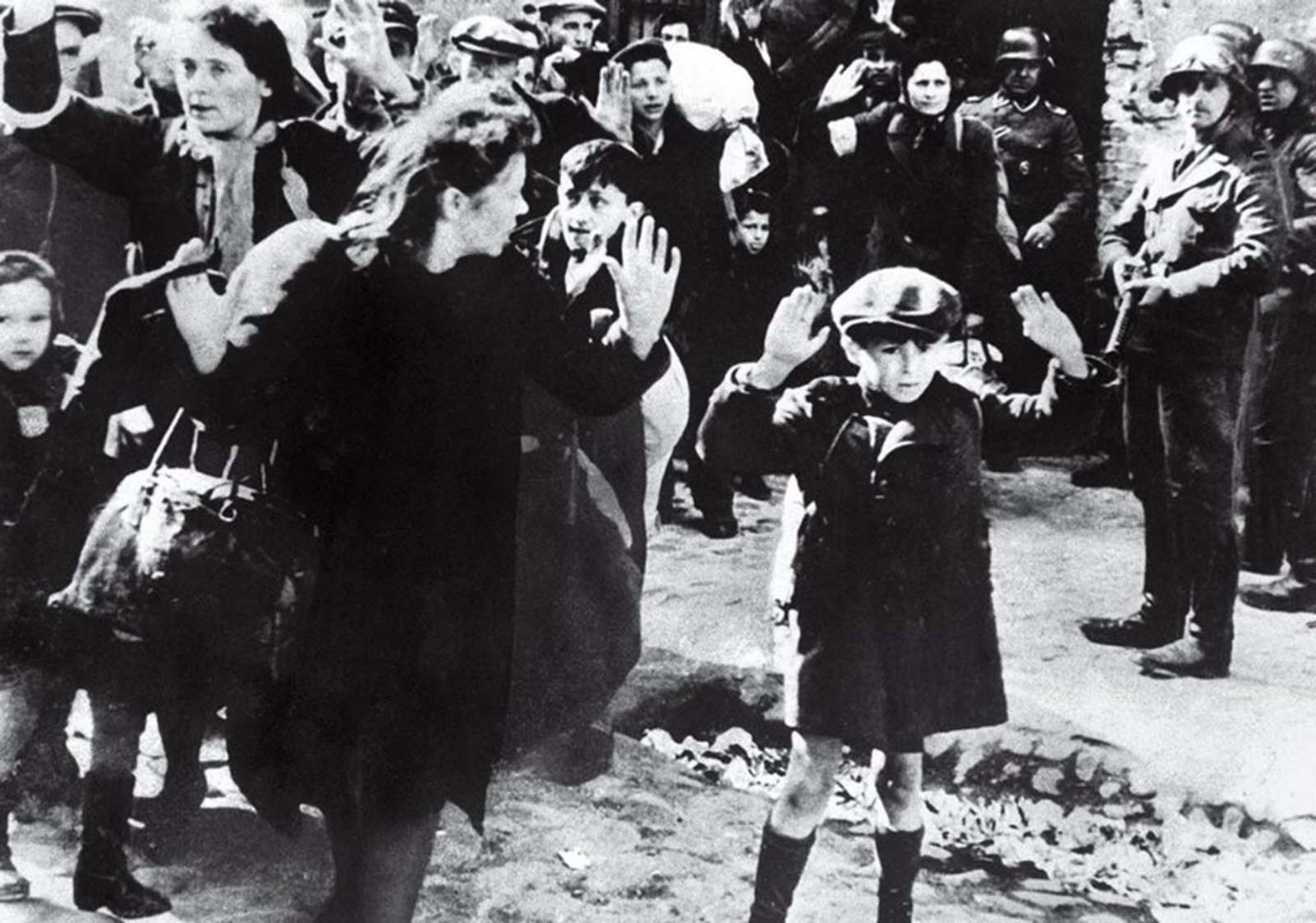 history photo Jewish Boy Surrenders in Warsaw, Unknown, 1943