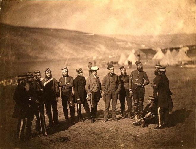 Major Adolphus Burton & officers of the 5th Dragoon Guards.