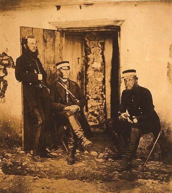 Major General Sir R. Dacres, Captain Hamley & Colonel Adye.