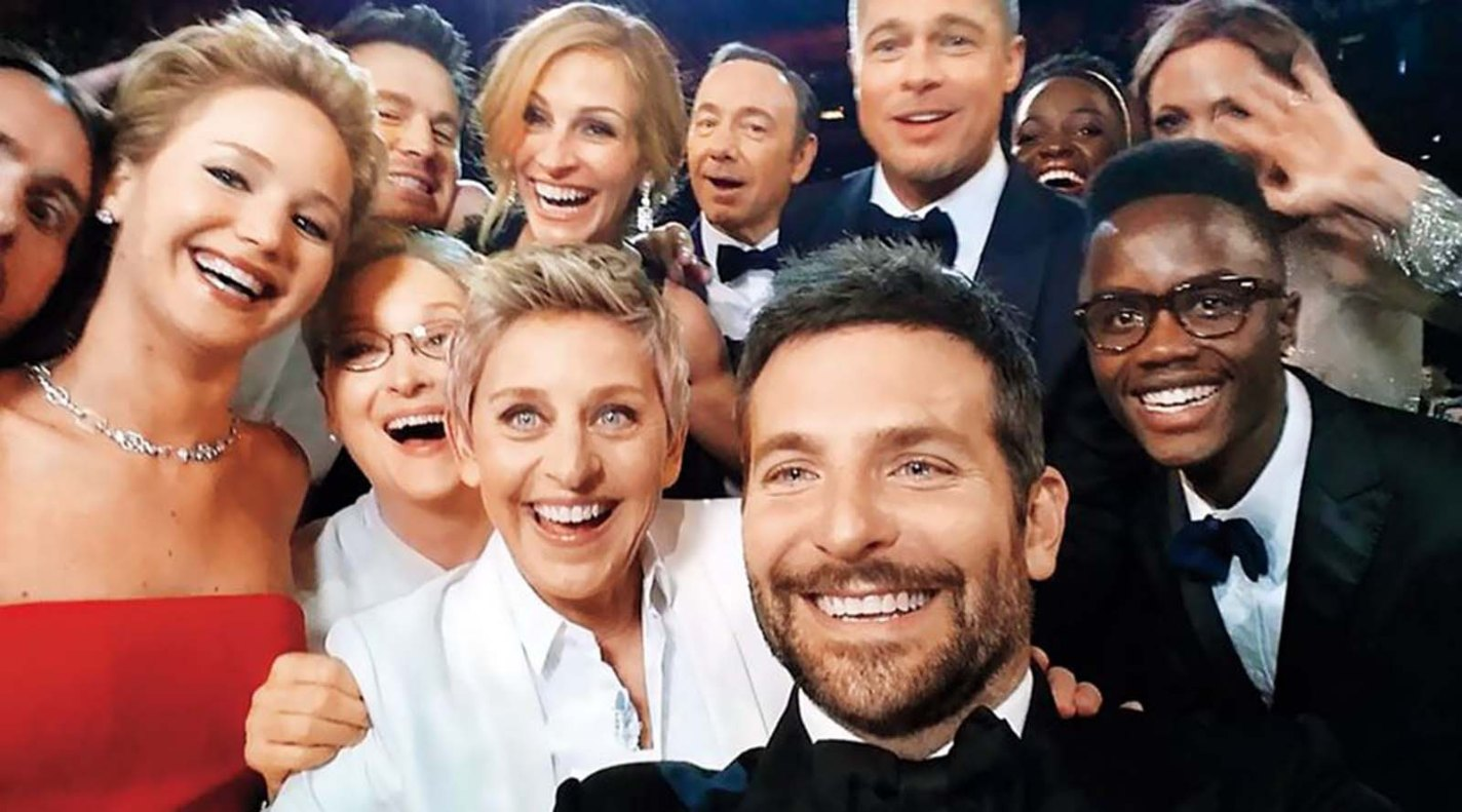 Oscars Selfie, Bradley Cooper, 2014