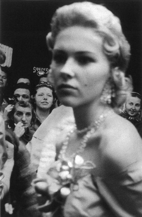 Celebrity and her fans. Photo Robert Frank
