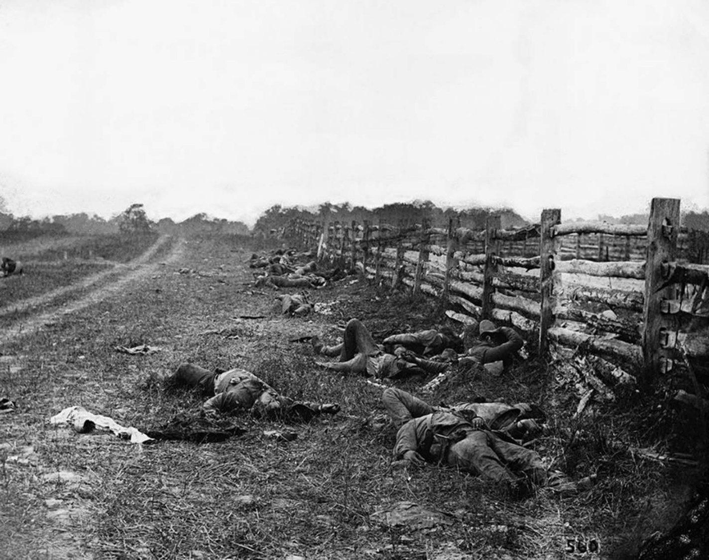 historical photos: The Dead of Antietam, Alexander Gardner, 1862