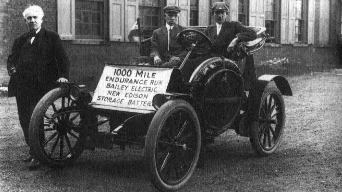 Electric car, 1909 promo race