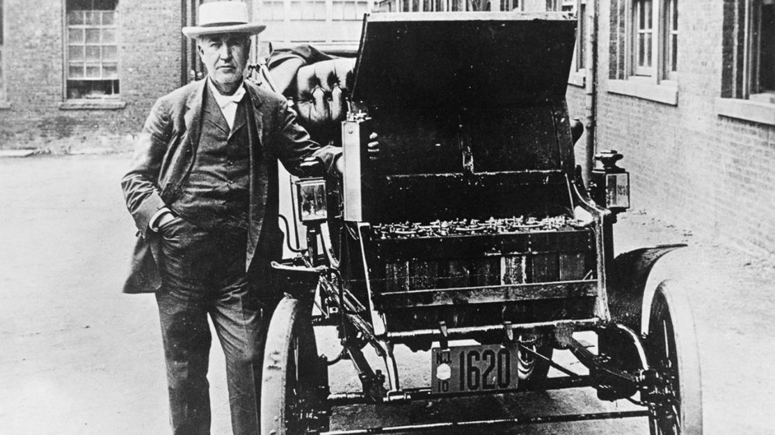 Thomas Edison and his electric car