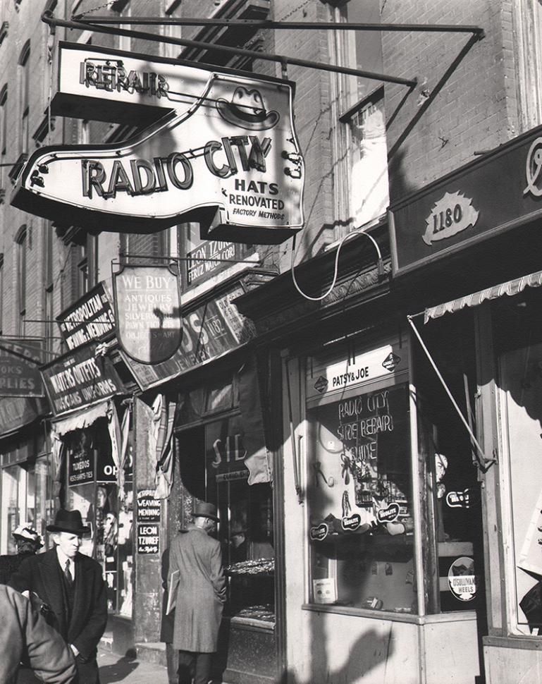 Todd Webb, Shops at Sixth Avenue near Rockefeller Center, 1947