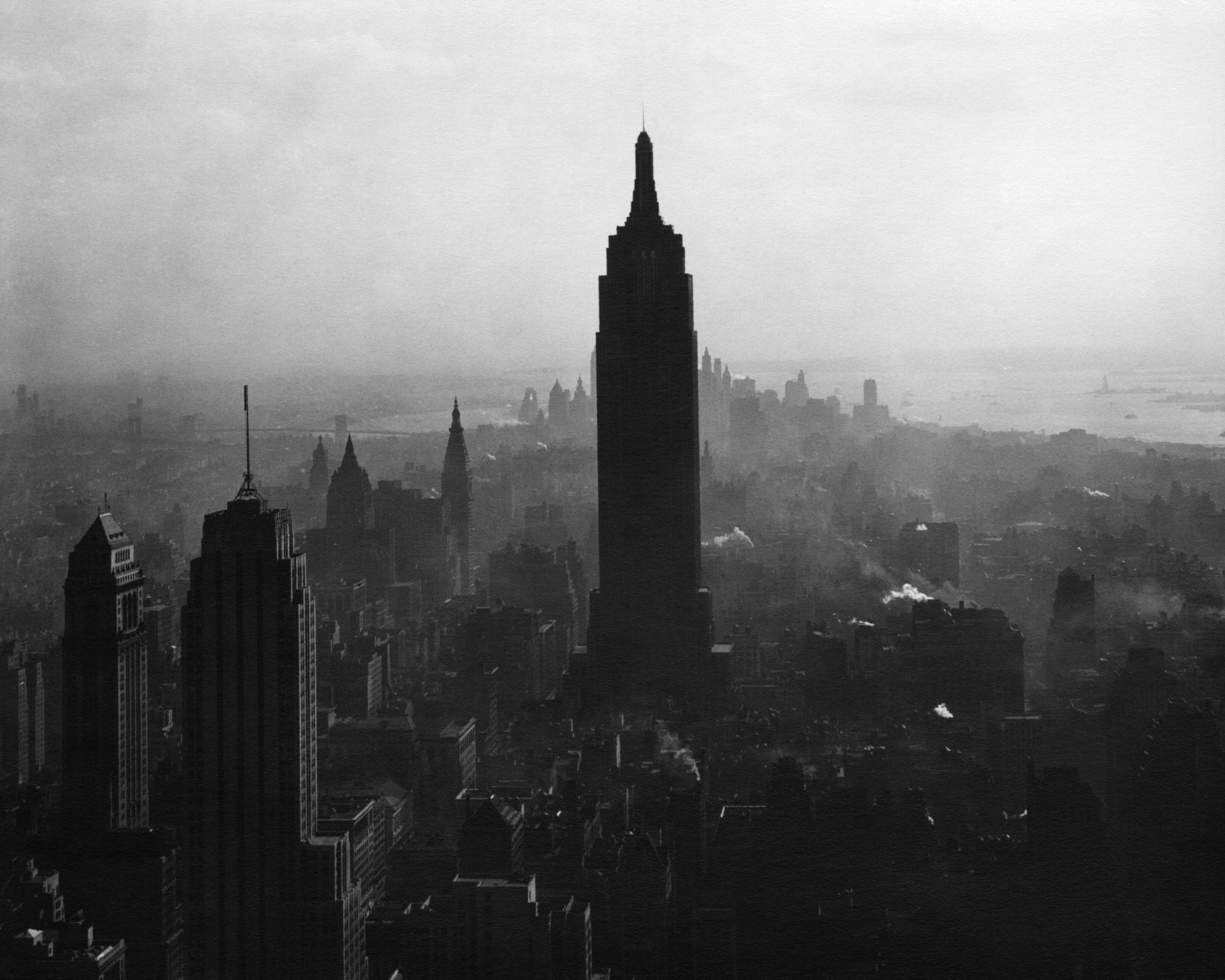 Todd Webb, View South from the top of the RCA Building showing the Empire State Building, 1947