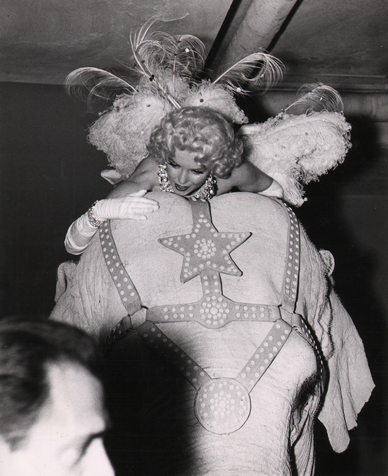 Weegee, Marilyn at the Circus, c. 1955