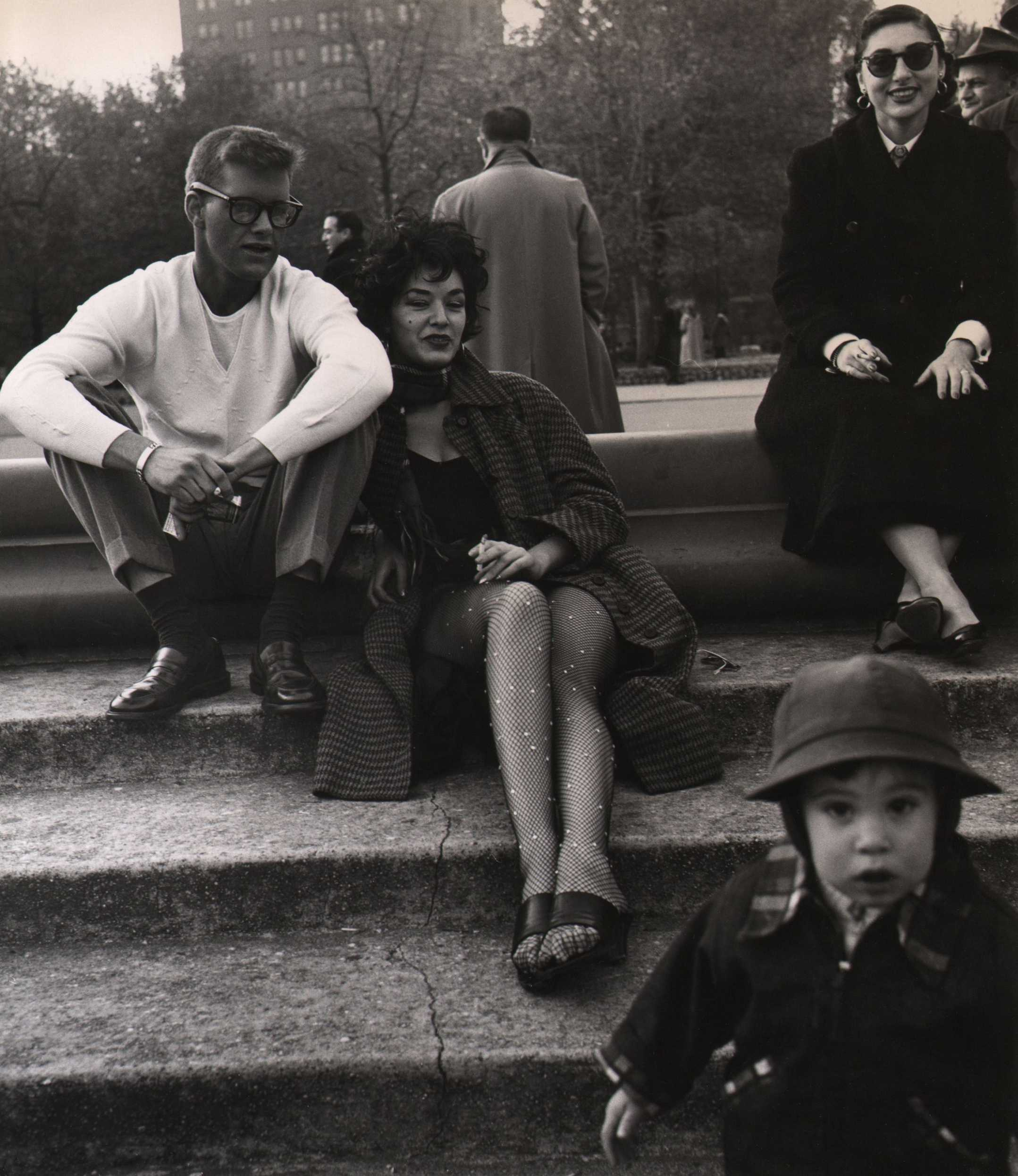 Weegee, Washington Square Park, c. 1955