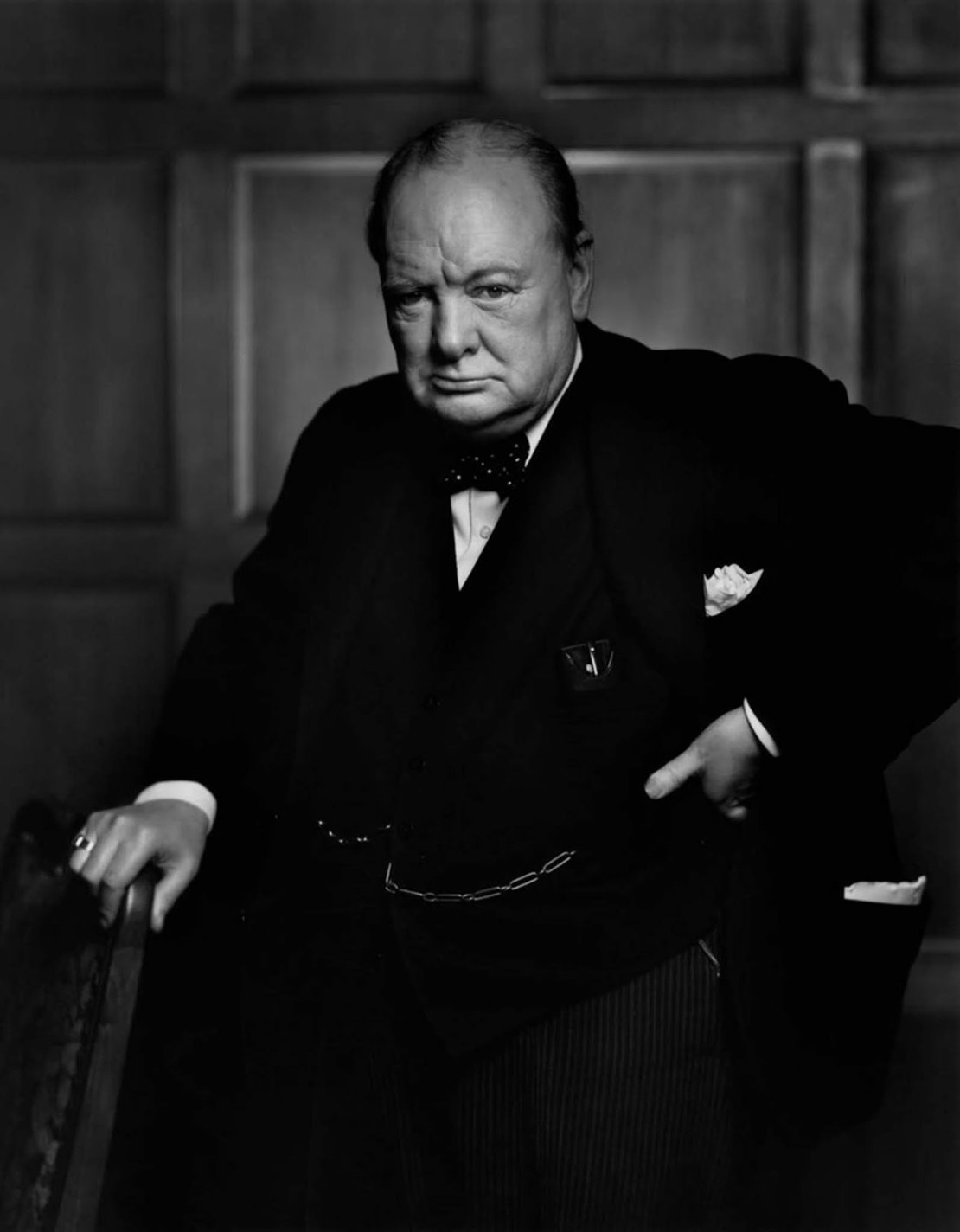 history photo Winston Churchill, Yousuf Karsh, 1941