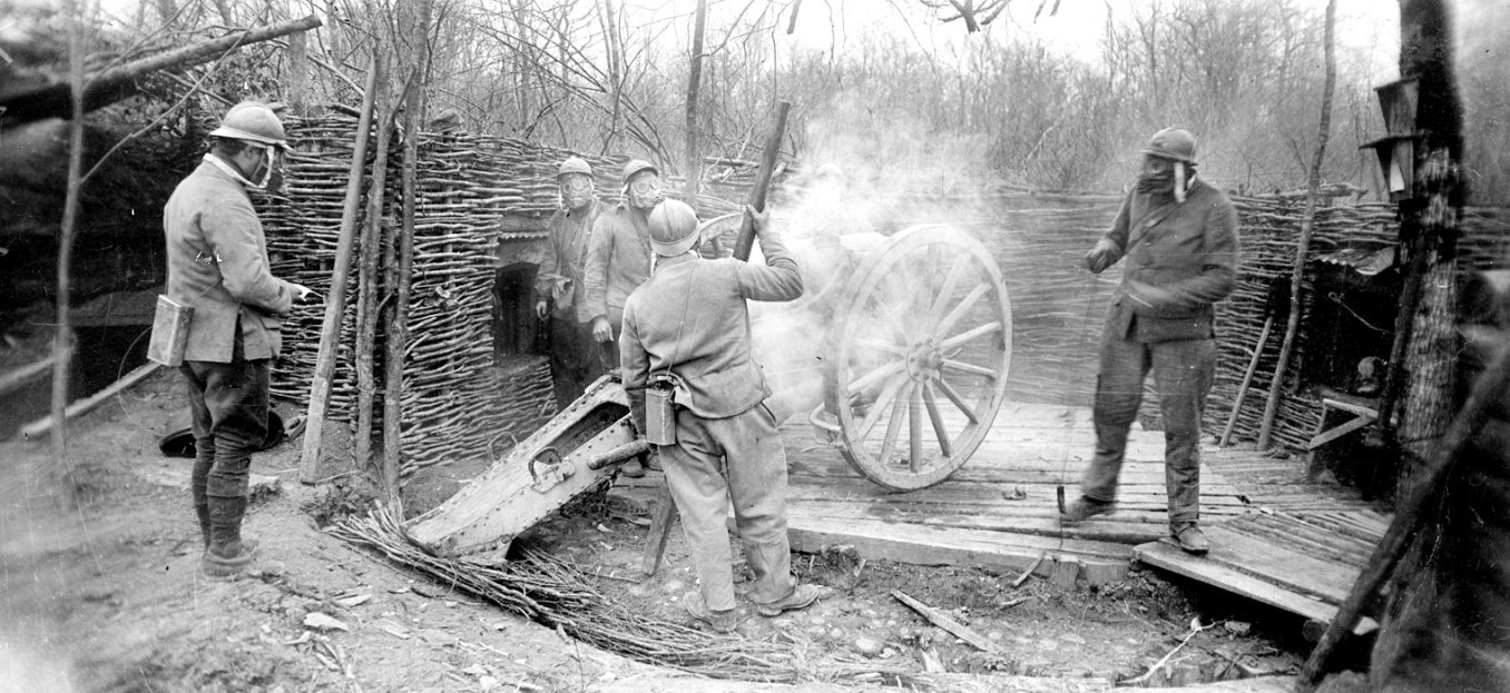Shooting the chemical shells, 1916