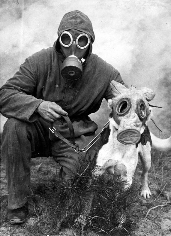 History of gas mask in photos