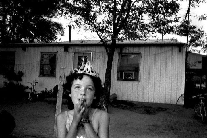 A girl in a tiara