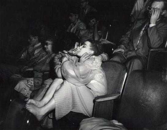 The kissing couple, LA, 1956