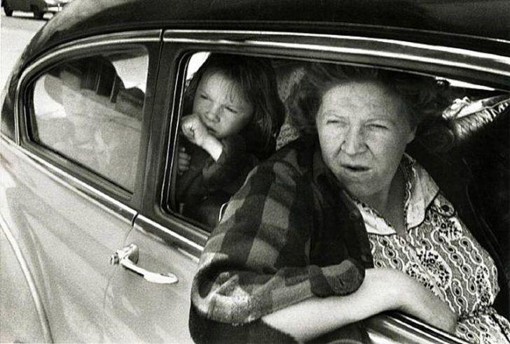 family in the car, Robert Frank