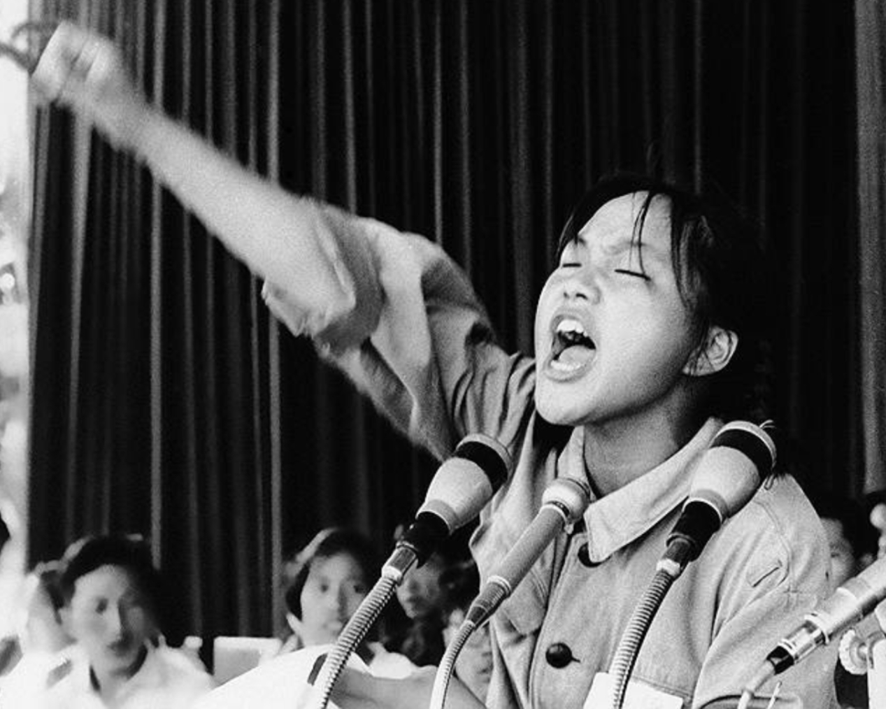 15 years old Mis Choo, an active supporter of Red Guards