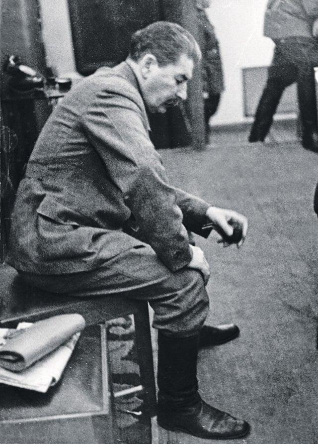 An unauthorised photo of Joseph Stalin, 1941