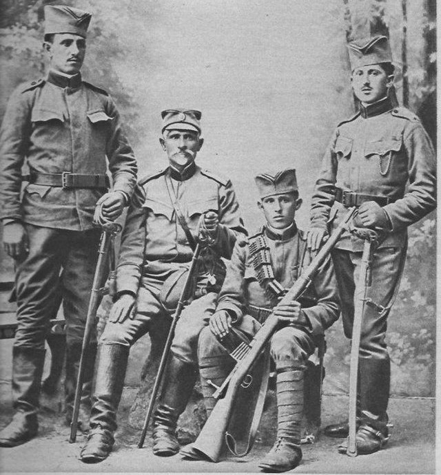 Captain of the Serbian army. A veteran of 7 wars, again on the front with his 3 sons. WW1, -1915