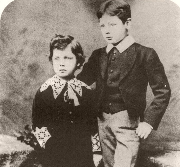 Churchill and his brother Jack, 1884.
