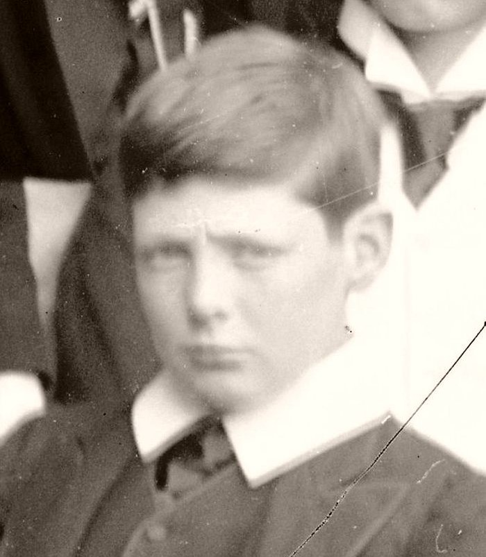 Churchill as a schoolboy at Harrow, 1890.