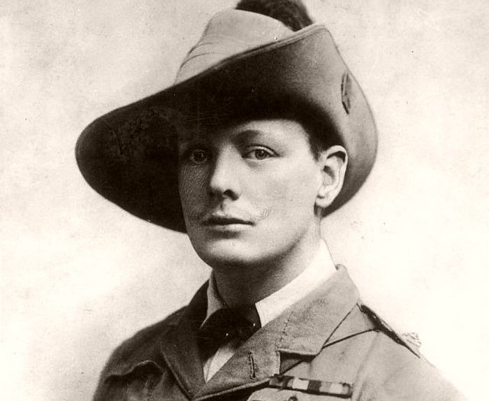 Young Winston Churchill during his service in the South Africa, 1899.