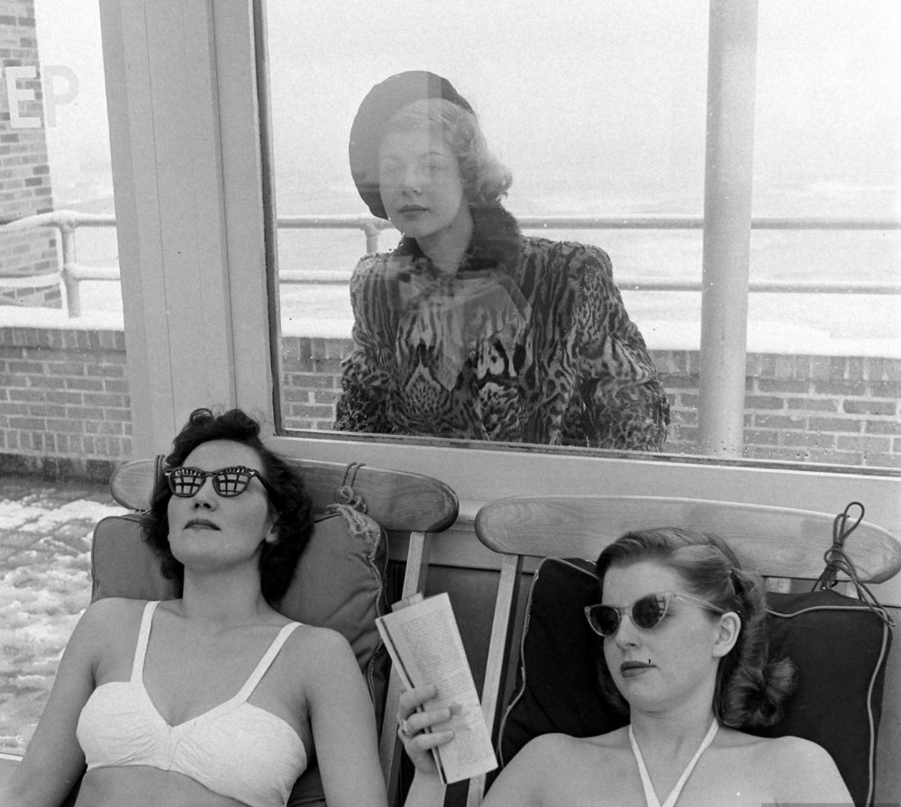 From a story about sunlamps at the Senator Hotel in Atlantic City, January 1948
