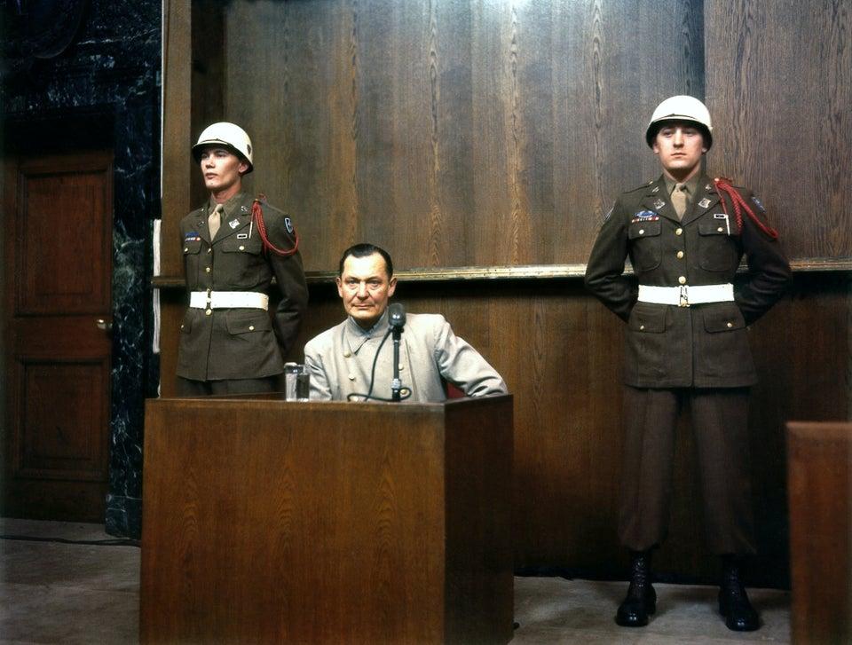 Hermann Goering during the tribunal