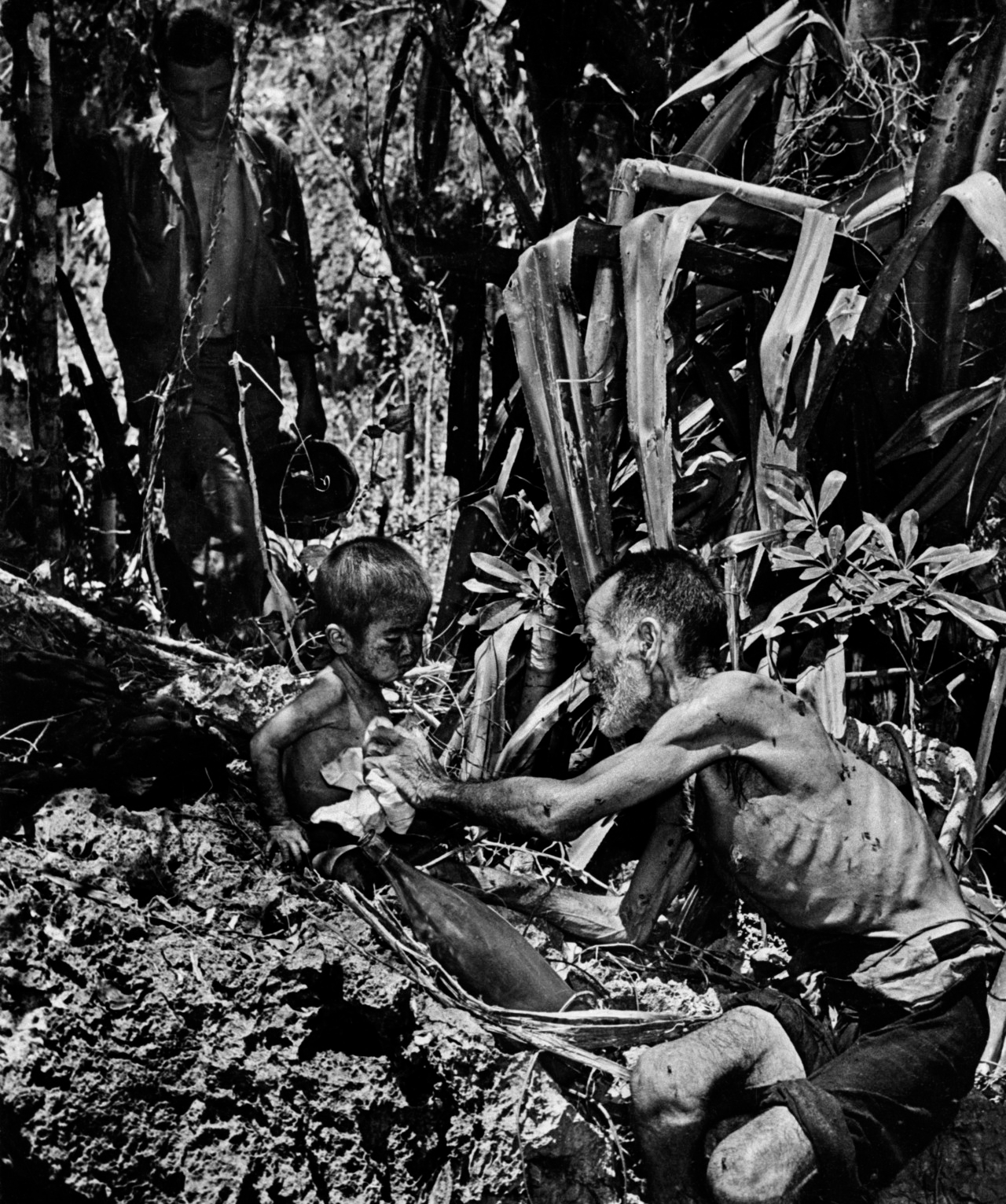 Japanese civilians captured by the US forces