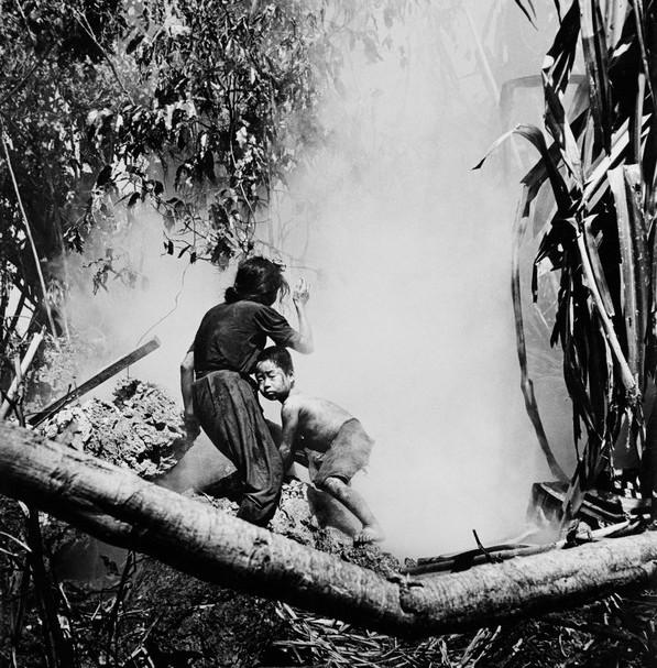 Japanese civilians emerging from the hidings, Saipan Island