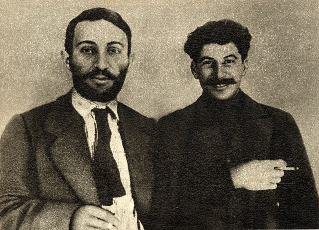 Joseph Stalin and Suren Spandarjan, 1915