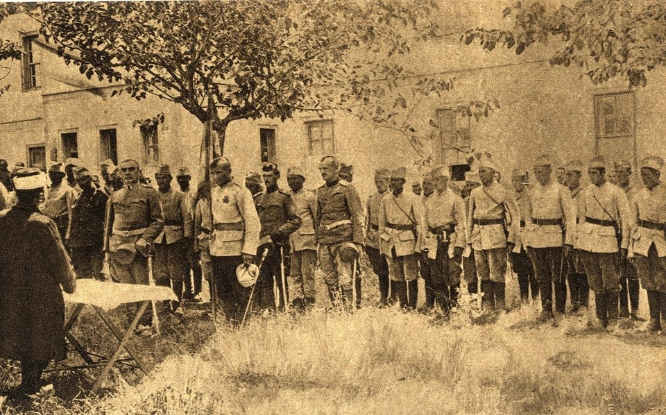 Muslims of Serbian Army Laying Oath before the Mufti of Niš (Niš, Serbia, 1915)