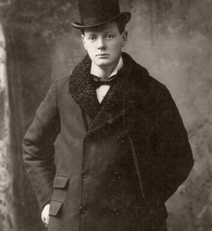 Portrait of Churchill, taken in Boston, Massachusetts, USA in 1900.