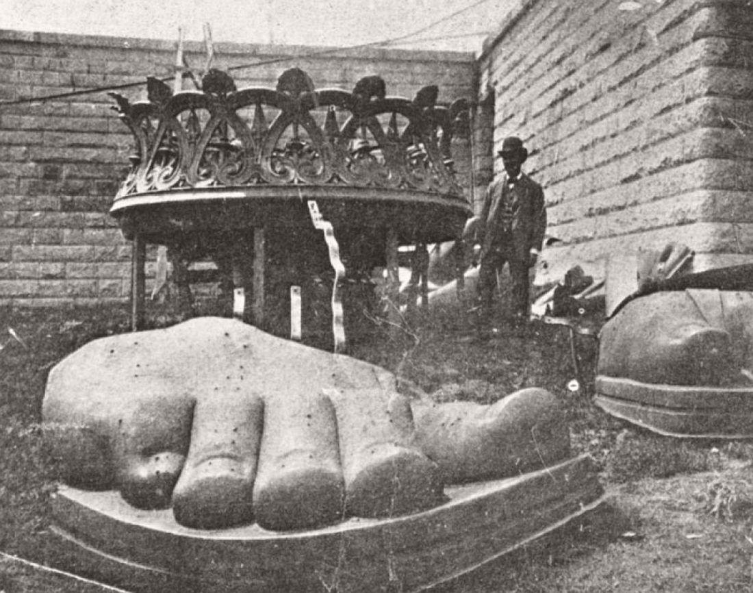 Statue of Liberty foot before assembling