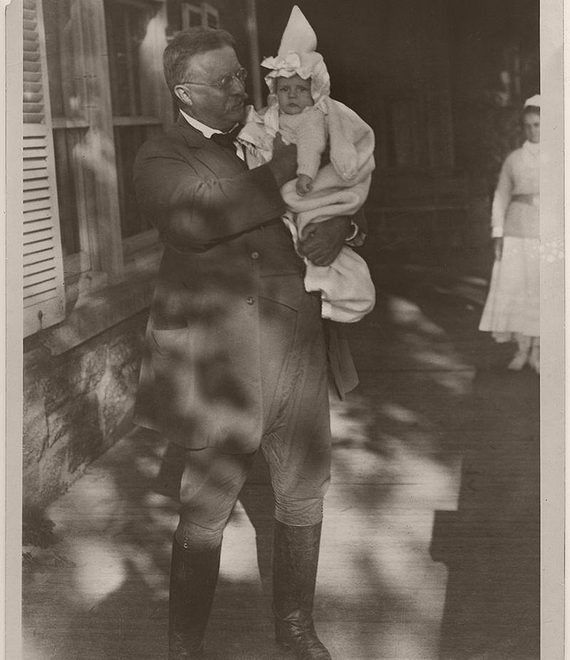 Theodore Roosevelt and his grandchild